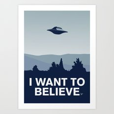 My I want to believe minimal poster-xfiles Art Print