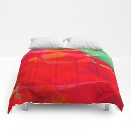 Mixed color Poinsettias 3 Abstract Polygons 3 Comforters