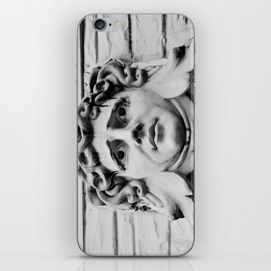 Face of stone iPhone & iPod Skin