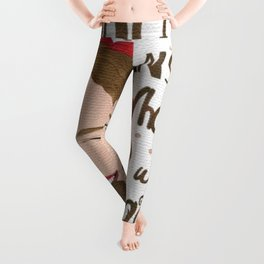 Chocolate is the Answer Who Cares What the Question is Leggings