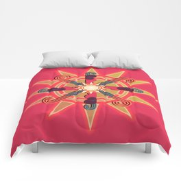Sun Dial Comforters