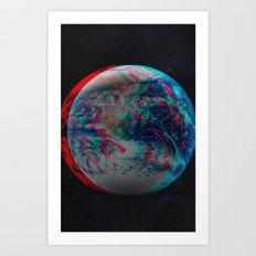 Earth Anaglyph  Art Print