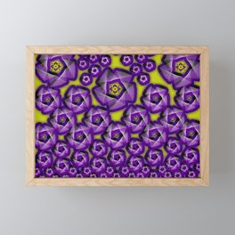 Floral fraktal, purple Framed Mini Art Print