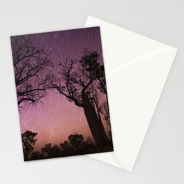Raining Stars on Boabs Stationery Cards