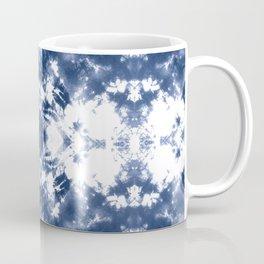 Shibori Tie Dye 4 Indigo Blue Coffee Mug