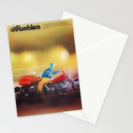 1972 Hot Wheels Rumblers Toy Motorcycle Catalog Poster Stationery Cards