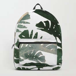 green leaves monstera Backpack