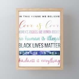 In This House We Believe... Resistance Art, Political Art Framed Mini Art Print