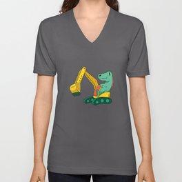 Cute Dinosaur Gift Kids Unisex V-Neck