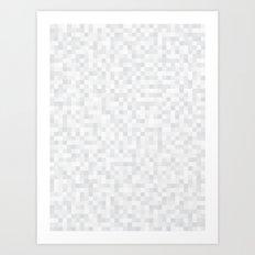 White Cubism Art Print