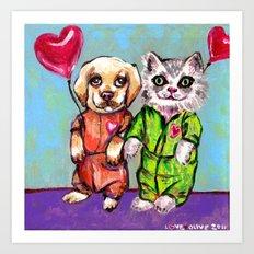 Tiny Pajama Party Art Print