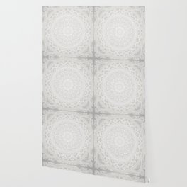 Mandala Soft Gray Wallpaper