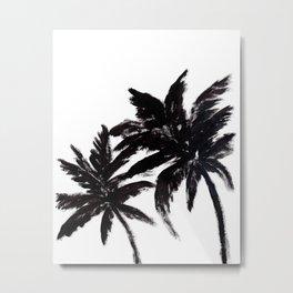 Abstract Palm Trees Metal Print