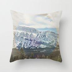 Tunnel Mountain Throw Pillow
