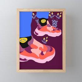 Smile Framed Mini Art Print