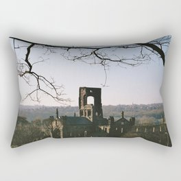 Kirkstall Abbey from the hill... Rectangular Pillow