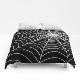 Spiderweb | Silver Glitter Comforters