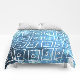 Blue Squares Abstract Comforters