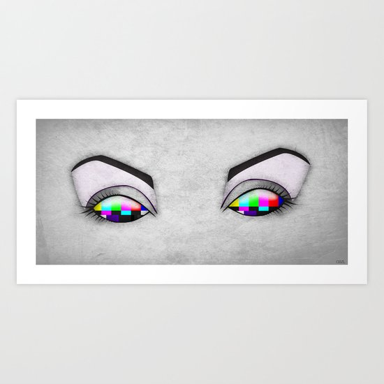 Electric Eyes 1 Art Print