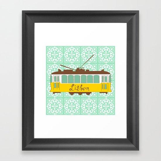 Lisbon Tram Framed Art Print