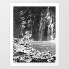 Places in Black & White: Burney Falls 21 Art Print