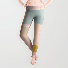 Pastel Geometric Graphic Design Leggings