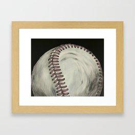 Vintage Baseball Art Framed Art Print