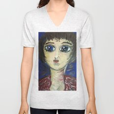 THE GIRL WHO PROTECTED OTHERS FROM TRENT Unisex V-Neck
