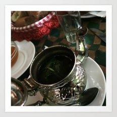 Ceremony of the tea Art Print