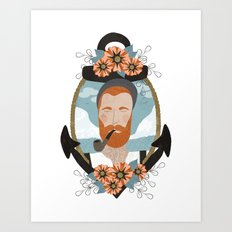 Ginger Sailor Art Print