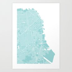 WE LOVE SF Art Print
