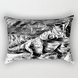 T-Rex Pen and Ink Rectangular Pillow