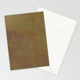 Abstract copper rusty crumpled paper Stationery Cards