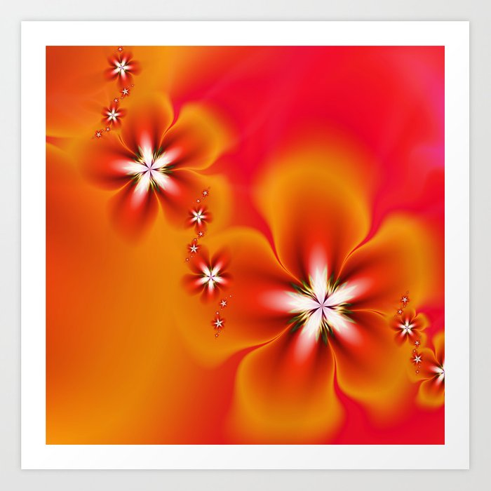 Fleur d'Automne Fractal Art Print