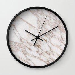 White Marble Carrara Calacatta Wall Clock
