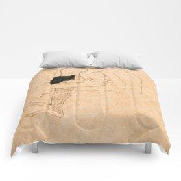 Egon Schiele Lovers Comforters