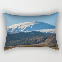 Snaefellsjokull volcano 2 Iceland Rectangular Pillow