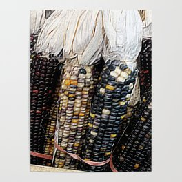 Painted Corn Poster