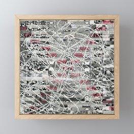 A Virtual Two By Four (P/D3 Glitch Collage Studies) Framed Mini Art Print