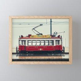 Tram number 6   Electrico 6. Lisboa, Portugal Framed Mini Art Print