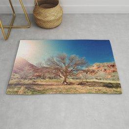 Sun desert tree Rug