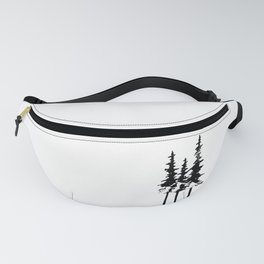 Trees and Compass Fanny Pack