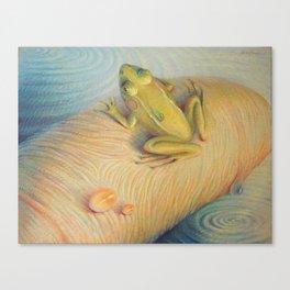 """Fingerfrog""  Canvas Print"