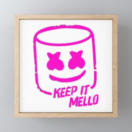 Marshmello - Keep It Mello Purple Framed Mini Art Print