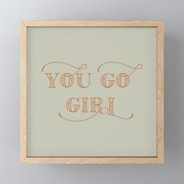 You Go Girl - Mint Framed Mini Art Print