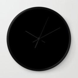 Simply Midnight Black Wall Clock