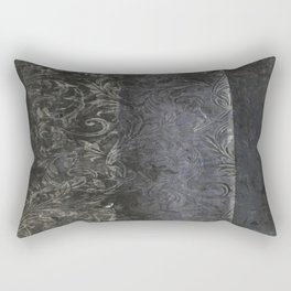 collage black Rectangular Pillow