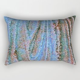 Caryatid in Blue Two Rectangular Pillow