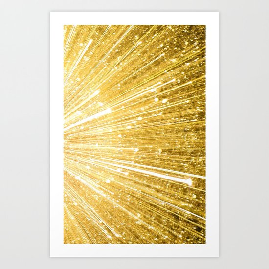 Gold Explosion - for iphone Art Print
