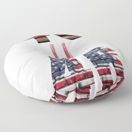 45 = 46 For Both Trump And Biden President Supporter Floor Pillow